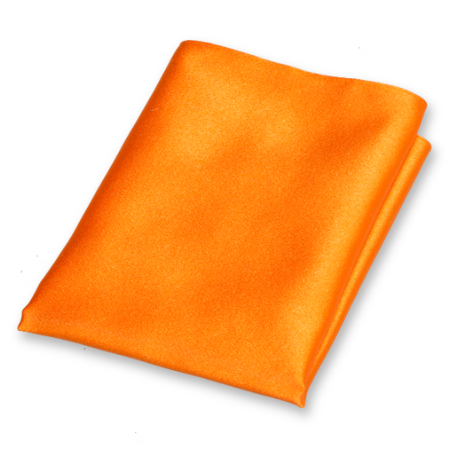 Einstecktuch Orange - Seidensatin (1)