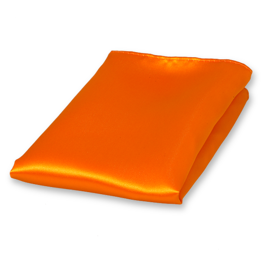 Einstecktuch Orange - Polyester Satin (1)