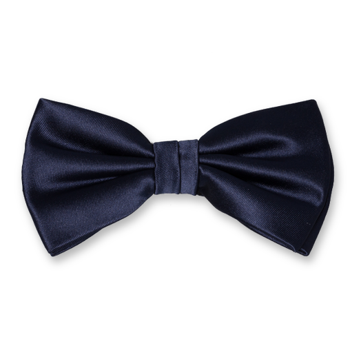 Herrenfliege Navy - Polyester satin (1)