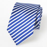 Streifenkrawatte in blau und weiß