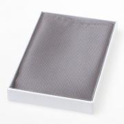 Seiden Einstecktuch grau