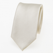 schmale Krawatte creme