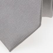 schmale Krawatte hellgrau detail