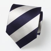 Krawatte dunkelblau/ weiß