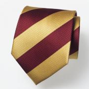 Krawatte in gelb und bordeauxrot